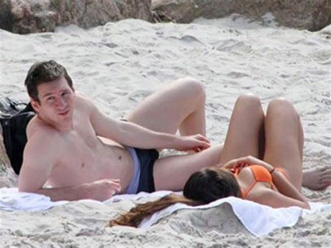 Messi tatilde yakalandı